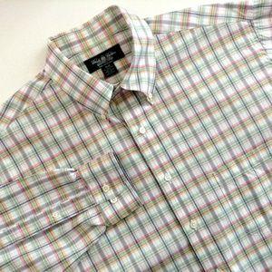 Brooks Brothers Pastel Plaid Shirt